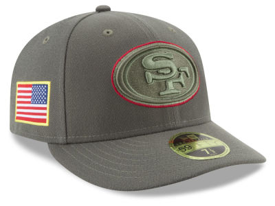 San Francisco 49ers New Era 2017 NFL Salute To Service Low Profile 59FIFTY Cap