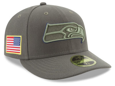 Seattle Seahawks New Era 2017 NFL Salute To Service Low Profile 59FIFTY Cap