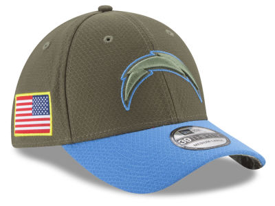 Los Angeles Chargers New Era 2017 NFL Salute To Service 39THIRTY Cap