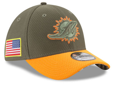 Miami Dolphins New Era 2017 NFL Salute To Service 39THIRTY Cap