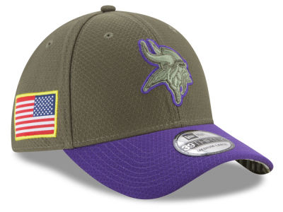 Minnesota Vikings New Era 2017 NFL Salute To Service 39THIRTY Cap
