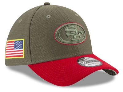 San Francisco 49ers New Era 2017 NFL Salute To Service 39THIRTY Cap