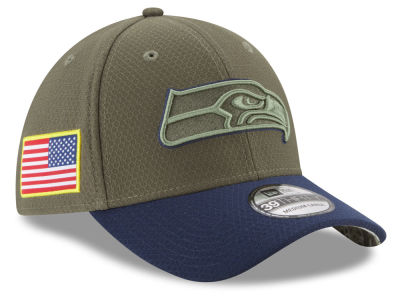 Seattle Seahawks New Era 2017 NFL Salute To Service 39THIRTY Cap