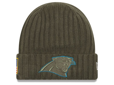 Carolina Panthers New Era 2017 NFL Salute To Service Cuff Knit