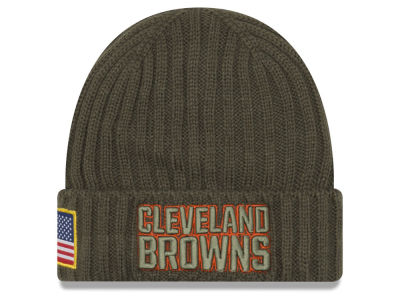 Cleveland Browns New Era 2017 NFL Salute To Service Cuff Knit