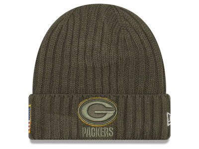Green Bay Packers New Era 2017 NFL Salute To Service Cuff Knit