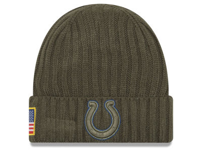 Indianapolis Colts New Era 2017 NFL Salute To Service Cuff Knit