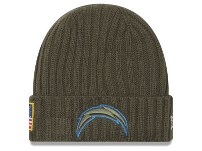 Los Angeles Chargers New Era 2017 NFL Salute To Service Cuff Knit