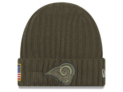 Los Angeles Rams New Era 2017 NFL Salute To Service Cuff Knit