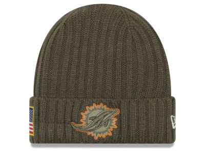 Miami Dolphins New Era 2017 NFL Salute To Service Cuff Knit