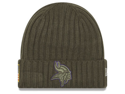 Minnesota Vikings New Era 2017 NFL Salute To Service Cuff Knit