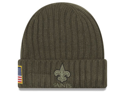 New Orleans Saints New Era 2017 NFL Salute To Service Cuff Knit