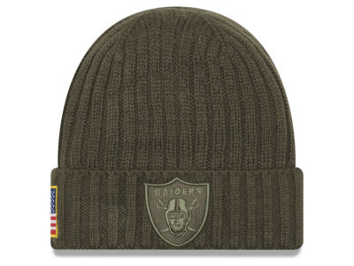 Oakland Raiders New Era 2017 NFL Salute To Service Cuff Knit