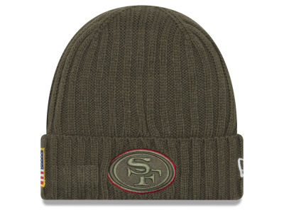 San Francisco 49ers New Era 2017 NFL Salute To Service Cuff Knit