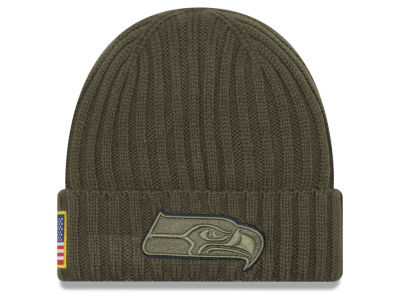 Seattle Seahawks New Era 2017 NFL Salute To Service Cuff Knit