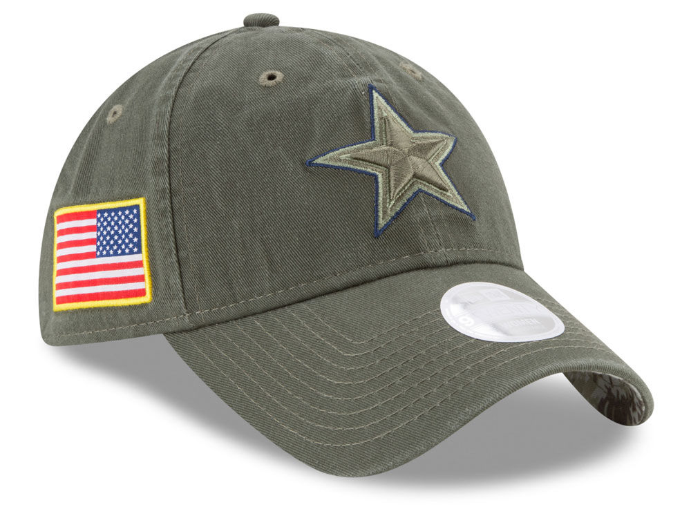 Dallas Cowboys New Era 2017 NFL Women s Salute To Service 9TWENTY Cap  0958677cb75