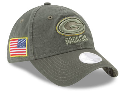 Green Bay Packers New Era 2017 NFL Women's Salute To Service 9TWENTY Cap
