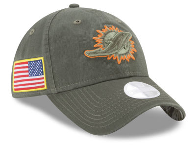 Miami Dolphins New Era 2017 NFL Women's Salute To Service 9TWENTY Cap