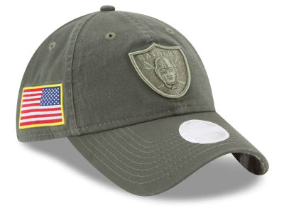 Oakland Raiders New Era 2017 NFL Women's Salute To Service 9TWENTY Cap