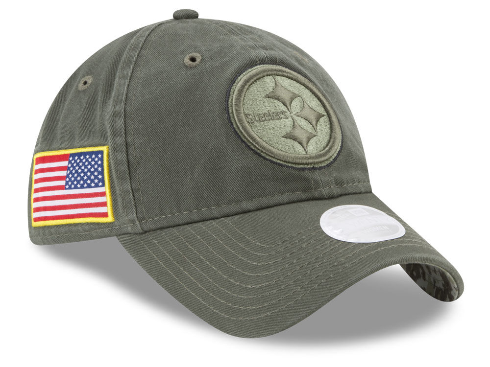 Pittsburgh Steelers New Era 2017 NFL Women s Salute To Service 9TWENTY Cap   7630bdbfa7a