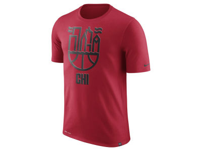 Chicago Bulls Nike NBA Men's Dri-Fit Dri-Blend City Scape T-shirt