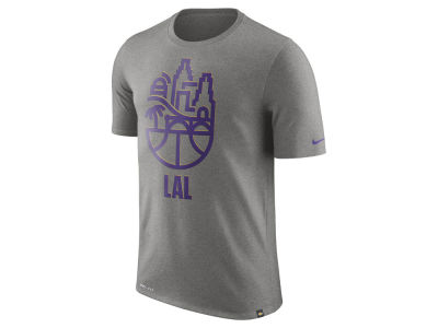 Los Angeles Lakers Nike NBA Men's Dri-Fit Dri-Blend City Scape T-shirt
