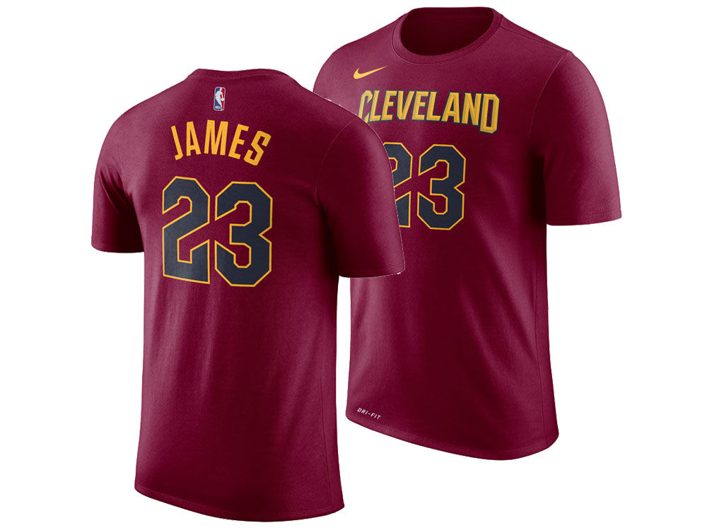 e0a23a2a6 Cleveland Cavaliers LeBron James Nike NBA Men s Icon Player T-shirt ...