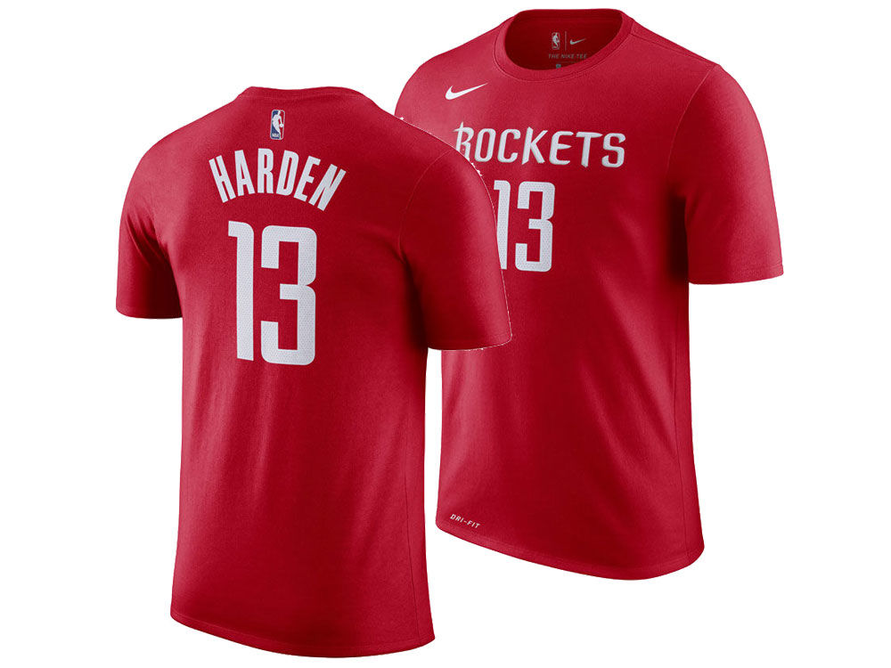 Houston Rockets James Harden Nike NBA Men s Icon Player T-shirt ... 45661dae9