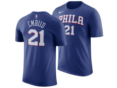 Philadelphia 76ers Joel Embiid Nike NBA Men's Icon Player T-shirt