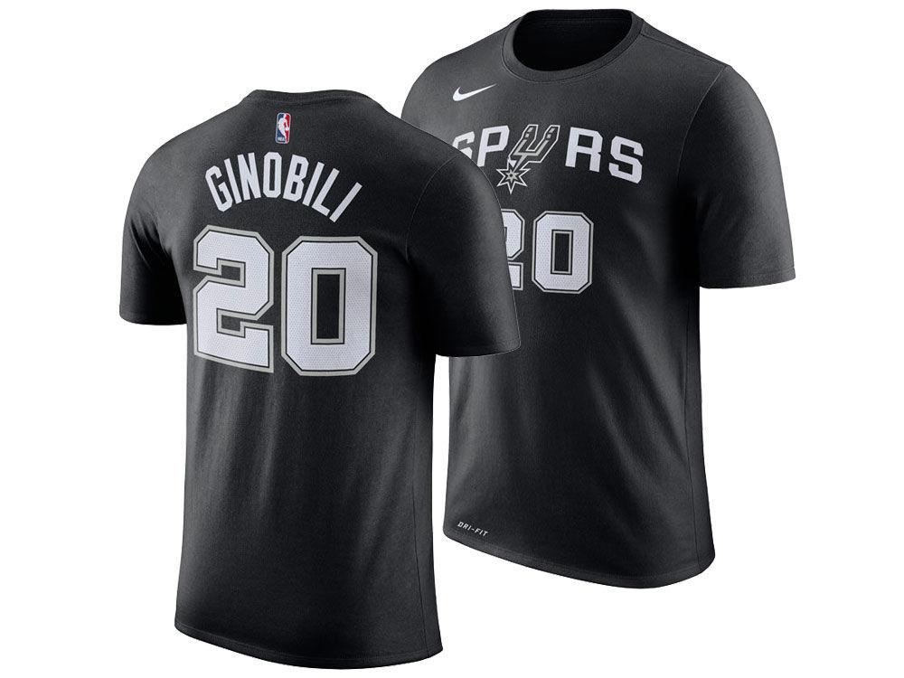 14781300d San Antonio Spurs Manu Ginobili Nike NBA Men s Icon Player T-shirt ...