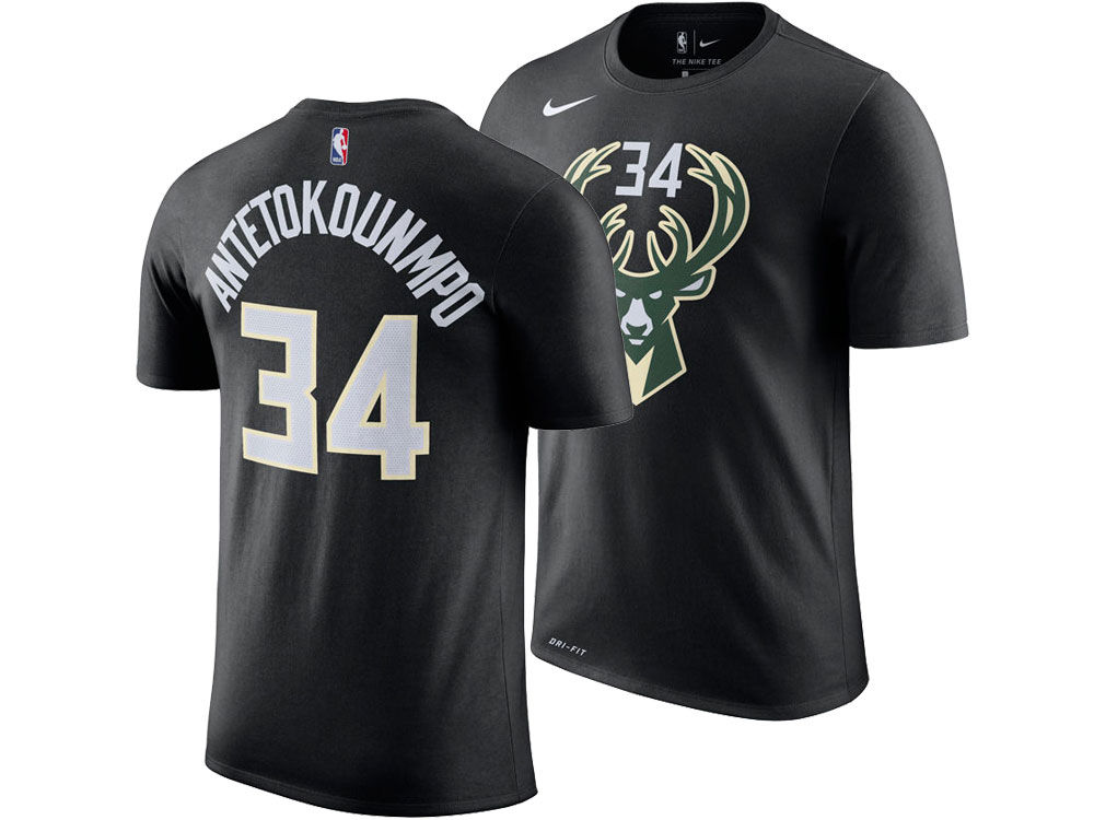 Milwaukee Bucks Giannis Antetokounmpo Nike NBA Men s Statement Player T- shirt  962db8e48