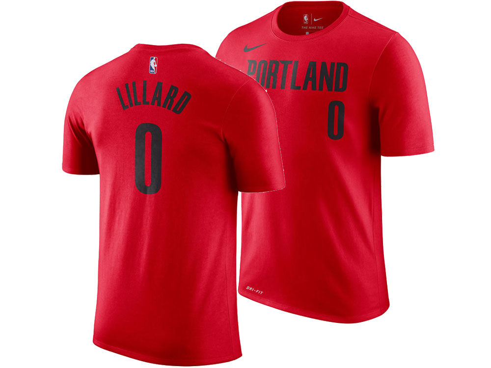 Portland Trail Blazers Damian Lillard Nike NBA Men s Statement Player  T-shirt  69c3880a811
