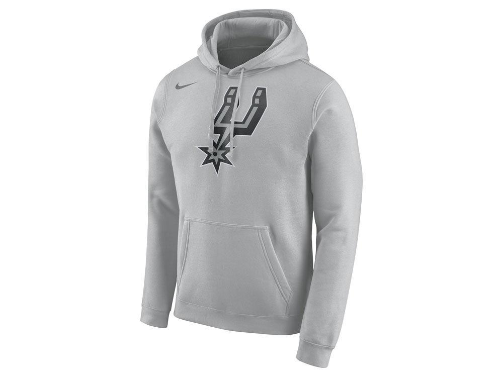 ea69c562b849 San Antonio Spurs Nike NBA Men s Logo Club Hoodie