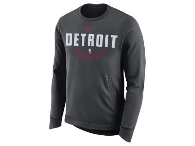 Detroit Pistons Nike NBA Men's Practice Therma Crew Sweatshirt