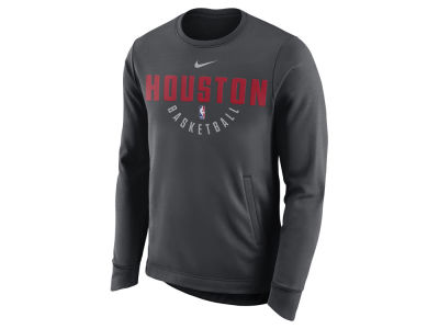 Houston Rockets Nike NBA Men's Practice Therma Crew Sweatshirt