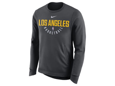 Los Angeles Lakers Nike NBA Men's Practice Therma Crew Sweatshirt