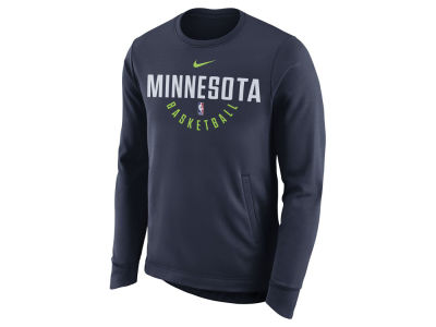 Minnesota Timberwolves Nike NBA Men's Practice Therma Crew Sweatshirt