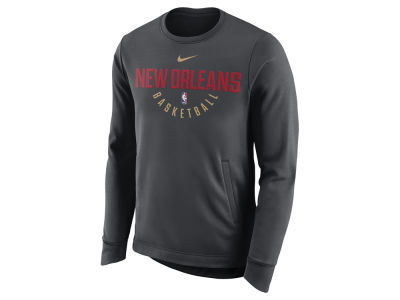 New Orleans Pelicans Nike NBA Men's Practice Therma Crew Sweatshirt