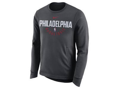 Philadelphia 76ers Nike NBA Men's Practice Therma Crew Sweatshirt