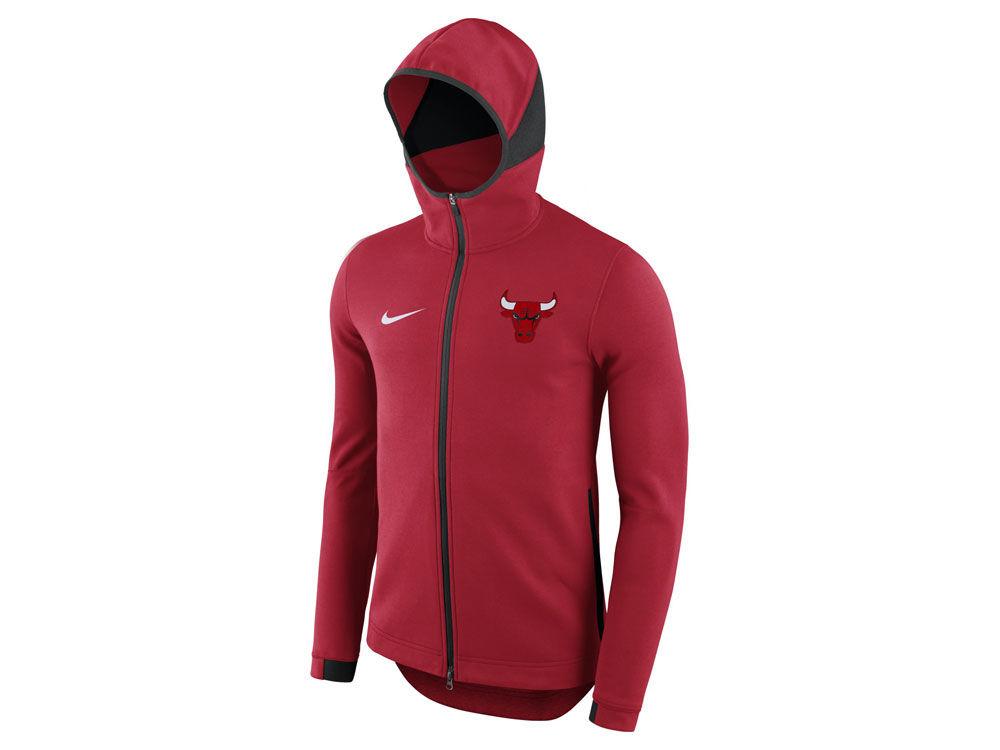 Chicago Bulls Nike NBA Men s Dry Showtime Full Zip Hoodie  b195ce66365