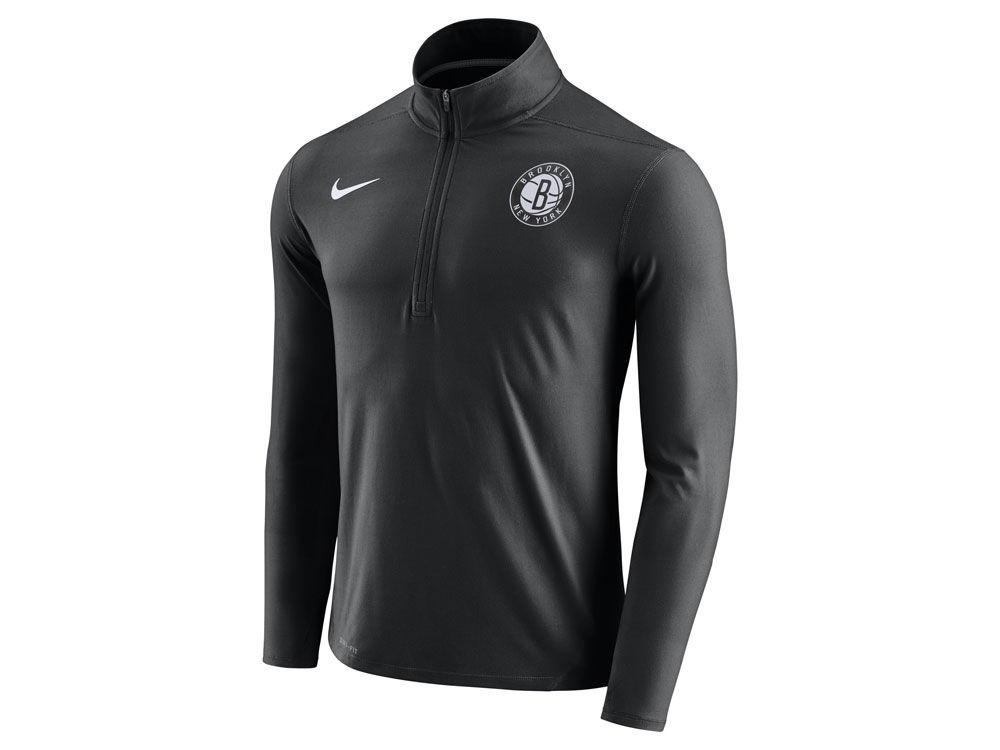 Brooklyn Nets Nike NBA Men s Half Zip Element Long Sleeve Pullover ... 4fa97fed5