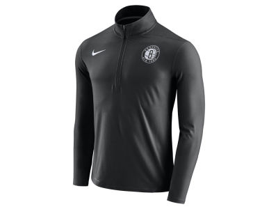 Brooklyn Nets Nike NBA Men's Half Zip Element Long Sleeve Pullover