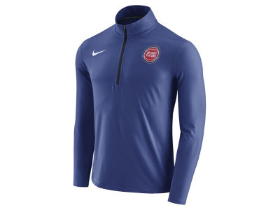 Detroit Pistons Nike NBA Men's Half Zip Element Long Sleeve Pullover