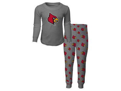 Louisville Cardinals Outerstuff NCAA Toddler Long Sleeve T-shirt and Pant PJ Set