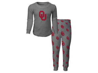 Oklahoma Sooners Outerstuff NCAA Toddler Long Sleeve T-shirt and Pant PJ Set