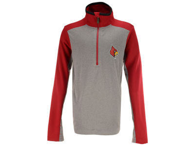 Louisville Cardinals Outerstuff NCAA Kids Matrix Quarter Zip Top