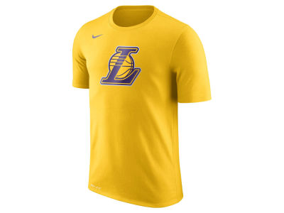 Los Angeles Lakers Nike NBA Men's Dri-Fit Cotton Logo T-Shirt