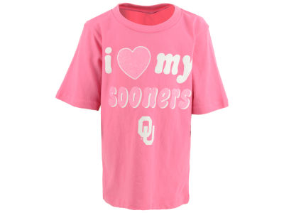 Oklahoma Sooners Outerstuff NCAA Toddler Girls Heart My Team T-Shirt