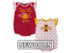Iowa State Cyclones Outerstuff NCAA Newborn Girls Heart Fan Creeper Set Infant Apparel