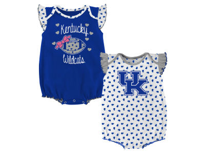 Kentucky Wildcats Outerstuff NCAA Newborn Girls Heart Fan Creeper Set